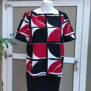 Chico's color block back zip blouse 1